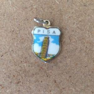 Jewelry - Vintage Enamel Pisa Charm
